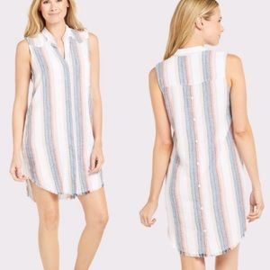 NWOT Cloth & Stone Anthro Sunburst Striped Dress